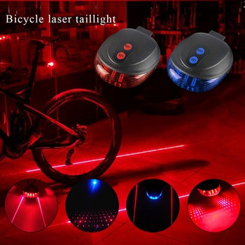 2020 High Quality Bicycle Laser Lights LED Flashing Lamp Tail Light Rear Cycling Bicycle Bike Safety Warning Led Light image