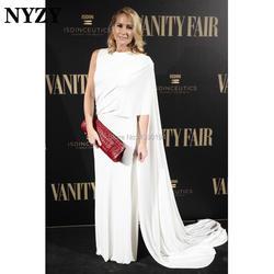 Накидка с рукавом-накидкой, белые платья для жениха и матери NYZY M237, Джерси для красной дорожки, популярное официальное вечернее платье