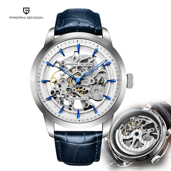 Pagani Design Automatic Skeleton Watch for Men Top Luxury Brand Tourbillon Mechanical Mens Wrist Watches Business reloj hombre kinyued luxury brand tourbillon automatic skeleton watch men mechanical moon phase self wind mens watches casual horloges mannen