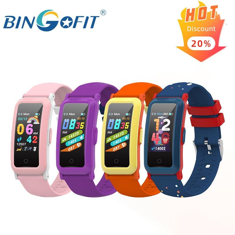 Bingofit ft907hr relógio inteligente para crianças à prova dwaterproof água crianças eletrônico pulseira inteligente lembrar rastreador de freqüência cardíaca