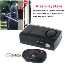 Home Security Wireless Remote Control Vibration Alarm Motorcycle Car Door Window Anti-Theft Burglar Detector Sensor 120dB стоимость