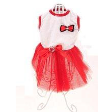 Тедди свадебное платье со стразами ПЭТ Костюмы сезон весна-лето; одежда с принтом в виде собак Bomei четыре ноги одежда юбка принцессы