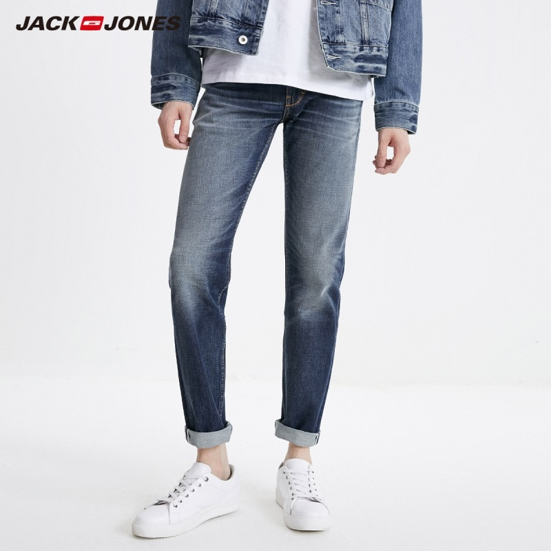 JackJones Men's Cotton Casual Loose Straight Jeans Basic Menswear| 219132577