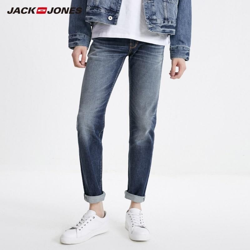 JackJones Men's Cotton Casual Loose Straight Jeans Menswear| 219132577