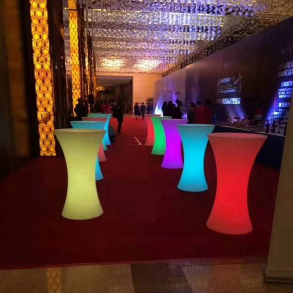 16 Colors Changing Lighting Led Cocktail Table Illuminous Glowing Coffee Bar Stool For Party Event  Supplies