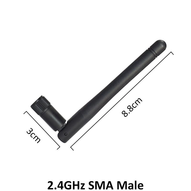 Image 2 - 10pcs 2.4GHz WIFI Antenna 2dBi 3dbi Aerial SMA Male connector wi fi antena 2.4 ghz antenne wi fi for Wireless Router antenasCommunications Antennas   -