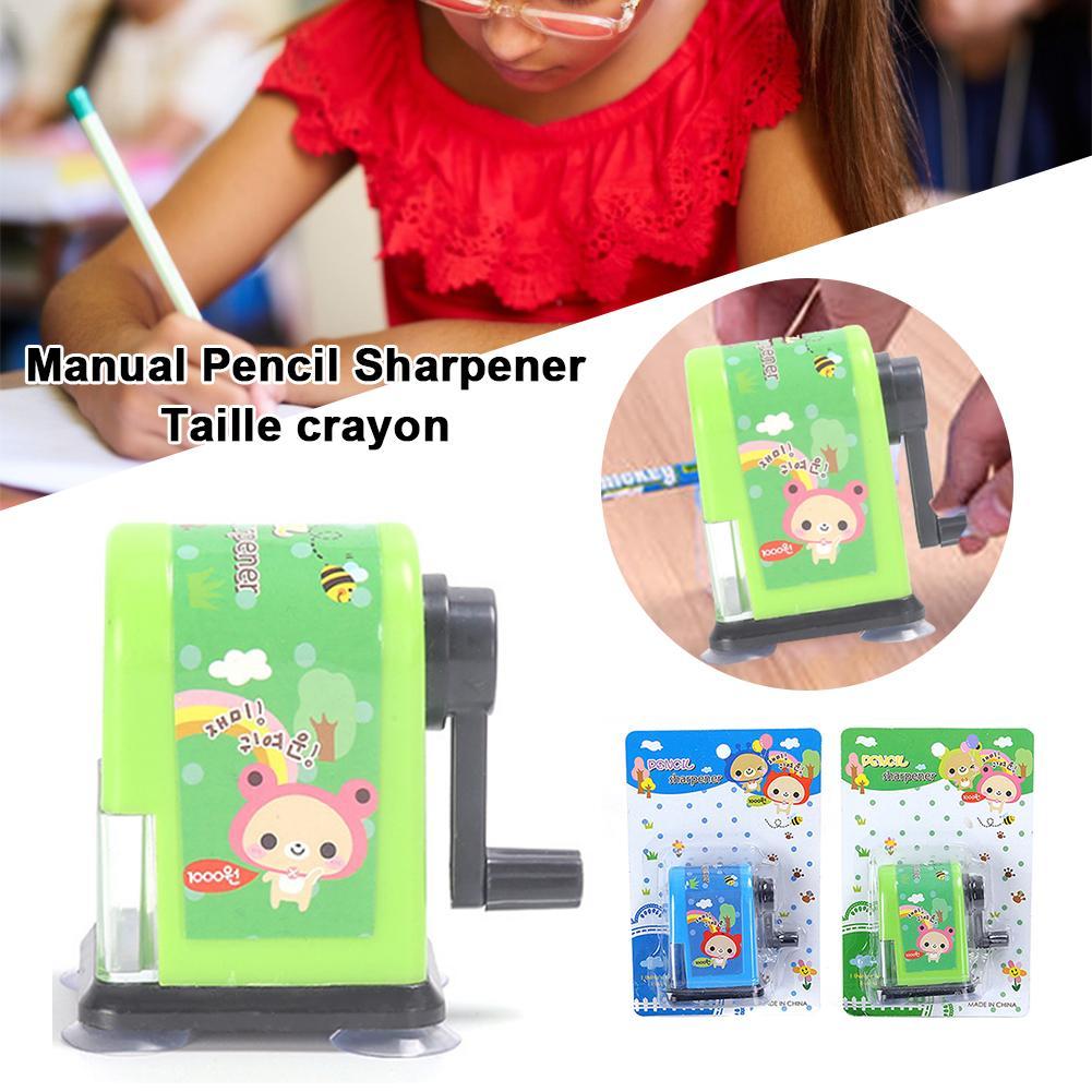 Kids Child Rotary Hand Crank Manual Desktop School Stationery Pencil Sharpener W