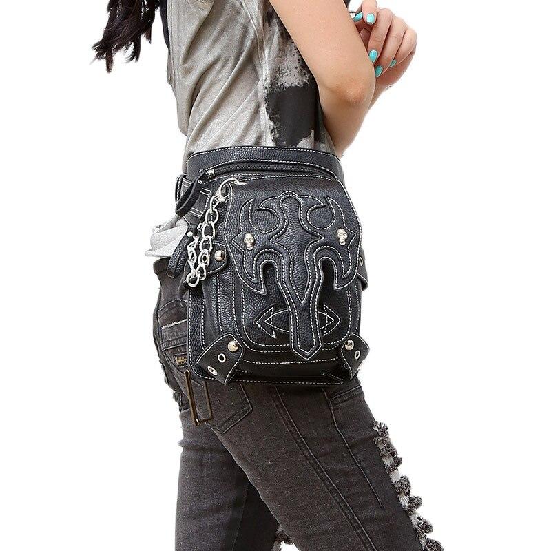 Automne et hiver nouveau sac pour femme offre spéciale Punk Vintage unique épaule sac bandoulière sac de taille tactique en plein air