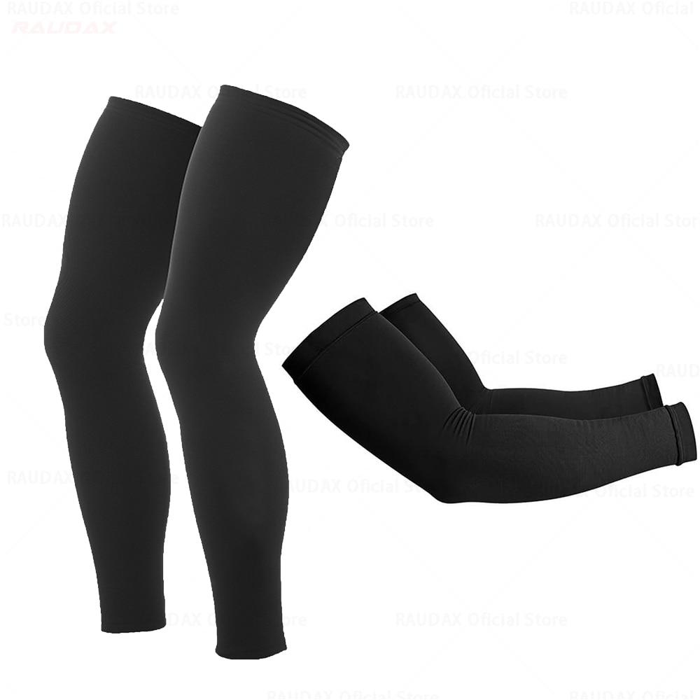 new Raudax Summer Leg Warmers Black UV Protection Cycling Arm Warmer Breathable Bicycle Running Racing MTB Bike Leg Sleeve 2021