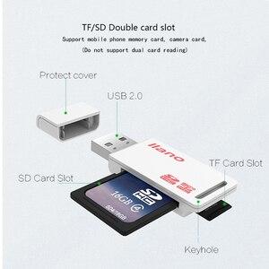 Image 5 - Leitor de cartão usb 2.0 sd/micro sd tf otg adaptador de cartão de memória inteligente para o portátil usb2.0 tipo c cardreader leitor de cartão sd