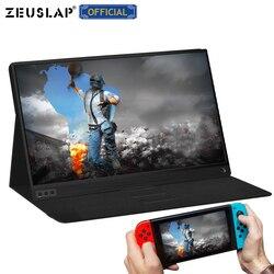 Zeuslap Dunne Draagbare Lcd Hd Monitor 15.6 Usb Type C Hdmi Voor Laptop, Telefoon, Xbox, schakelaar En Ps4 Draagbare Lcd Gaming Monitor