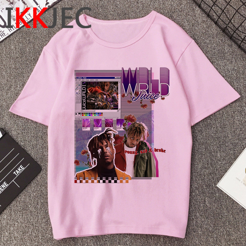 R.I.P Juice Wrld Print 90s T-shirt Men Streetwear Graphic Hip Hop T-shirt Rip Rapper Cartoon Tshirt Cool Aesthetic Top Tees Male