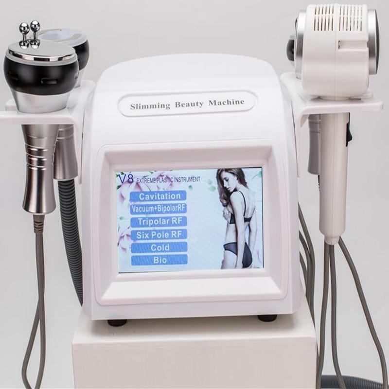 5 in 1 40K Ultrasonic Cavitation Slimming Machine Vaccum Massage Face Body Skin Tighten Weight Loss BIO v8 Beauty Machine