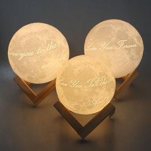 Image 3 - 3D مصباح قمري طباعة قابلة للشحن ليلة ضوء 3 اللون التحكم مصباح أضواء 16 الألوان للتغيير عن LED القمر ضوء هدية 5v 1A