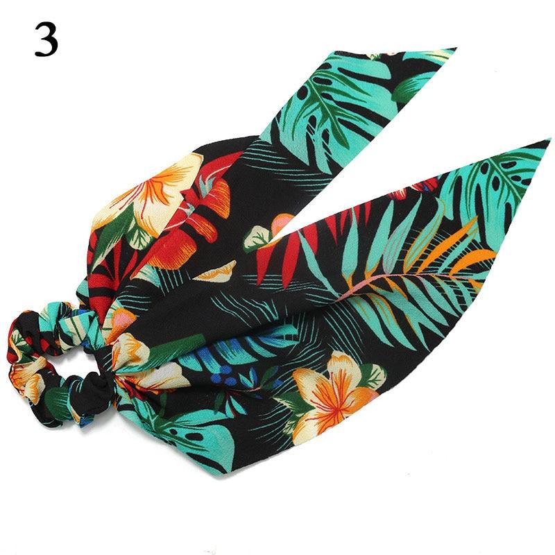 Bohème grande fleur chouchous longs banderoles arc cheveux écharpe femmes filles doux cheveux corde cravates mode cheveux accessoires chapeaux 65