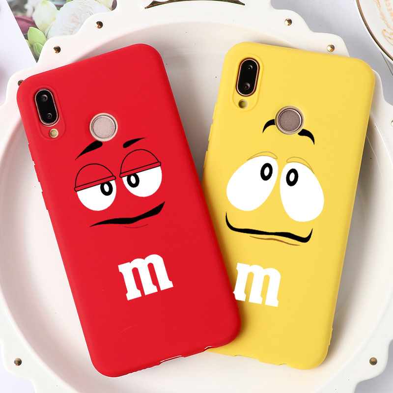 Chocolate Beans Silicone Cover For Huawei Honor Mate 20 10 Lite 10I 8X 9X 8A 9 P30 P40 P20 Lite Pro Y6 Y7 Y9 P Smart 2019 Z Case