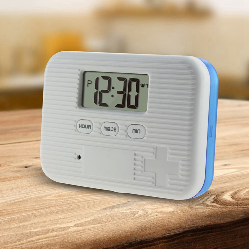 Dust Proof 6 Grid Pill with Electronic Timer and Alarm Reminder for Keeping the Medicines Safely 1