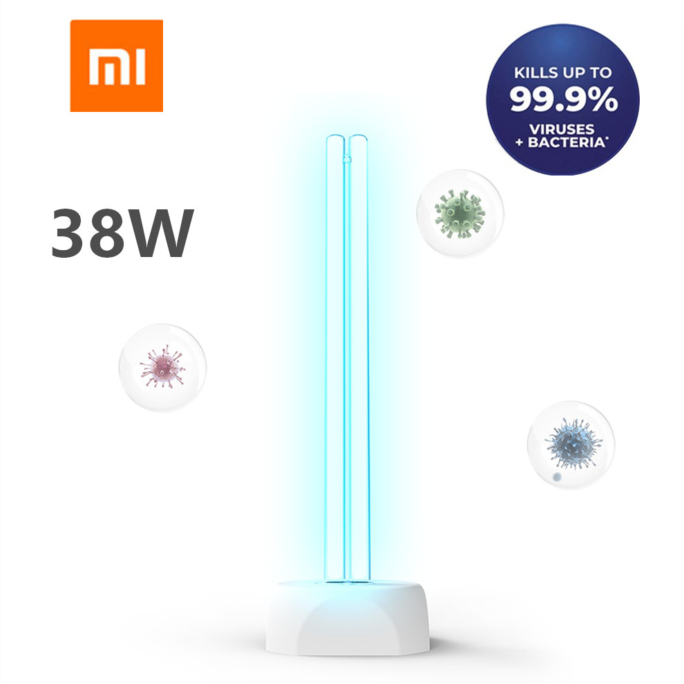 Xiaomi Huayi 38W Household UV Ozone Sterilization Lamp Dual Light Tube Ultraviolet Germicidal Disinfection Table Lamp 40㎡ Area