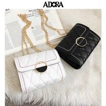 цена на ADORA Designer Bags Famous Brand Women Bags 2019  Clutch Bag Satchels  Fashion  Solid  Hasp Shoulder Bag Crossbody Bag