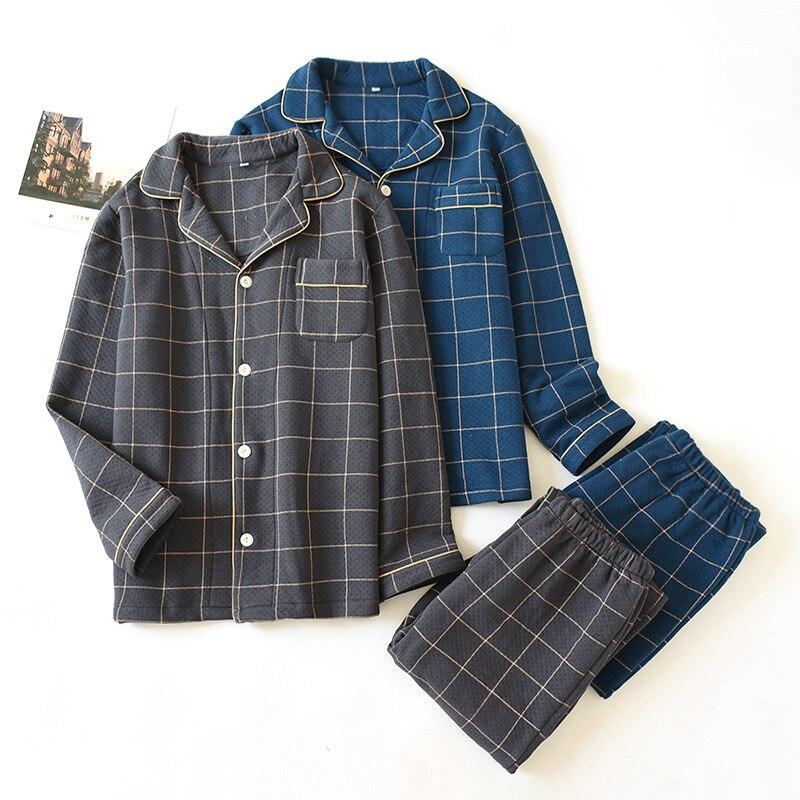 Pajamas For Women Spring And Winter And Autumn Pajamas Set Plaid Print Cotton Sleepwear Long Sleeve Large Size Female Homewear