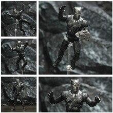 "Black TChalla Panther 7"" Action Figure King Of Wakanda Legends Vibranium Shield Avenger Endgame Original ZD Toys Doll Model"