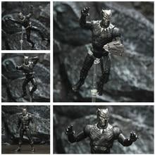 "Czarny TChalla Panther 7 ""figurka król Wakanda Legends Vibranium tarcza Avenger Endgame oryginalny ZD zabawki lalki Model"