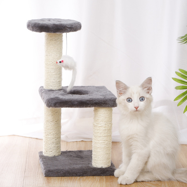 Small Cat Tree House Cat Cat Scratchers Climbing Frame Climbing Frame With Hammock Table Pet Cat Toy Kitty Play House For Kitten 2