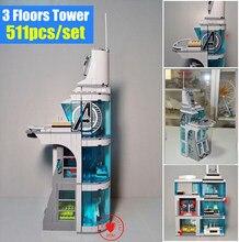 Marvel Superheroes Iron Man Base Attack On Avengers Tower Model Building Blocks Bricks Toys For Children Compatible Legoe Decool