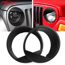 7 Front Light Headlight Angry Bird Style Trim Cover ABS For Jeep Wrangler JK JKU 2007-2017 Sports / Sahara Freedom Car accessor smoke lens yellow led front replacement turn signal light assembly for 2007 2016 jeep wrangler jk jku