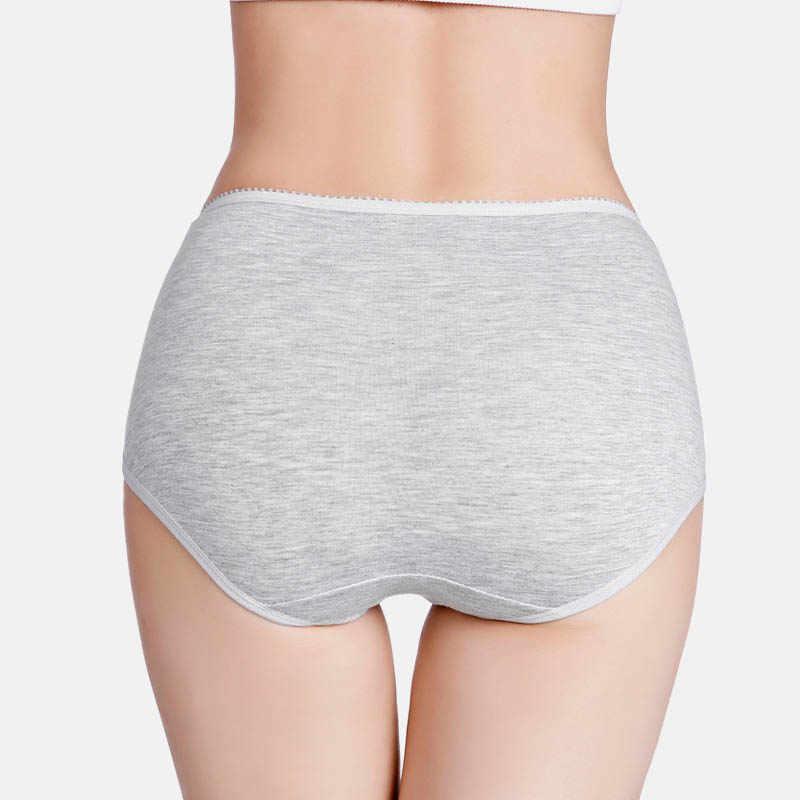 M-7XL Ukuran Besar Celana Wanita Celana Solid Tinggi Pinggang Celana Dalam Celana Dalam Katun Lembut Bernapas Musim Panas Perempuan Intimate