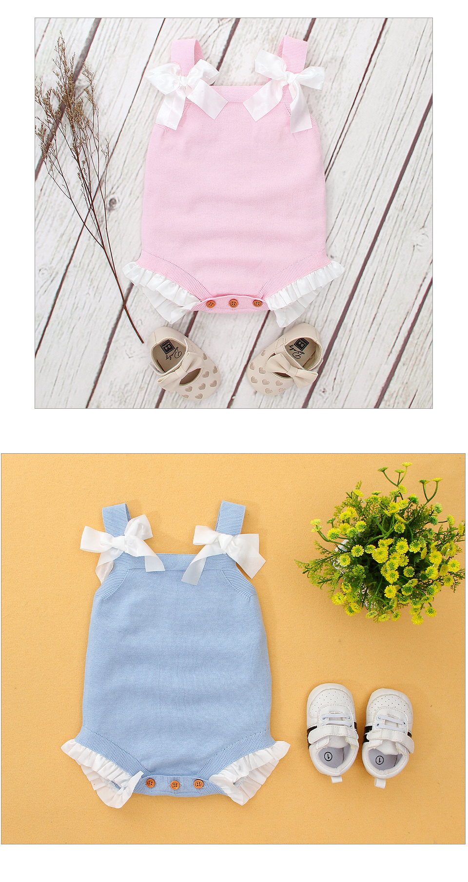 Baby Girls Sleeveless Bodysuits 11
