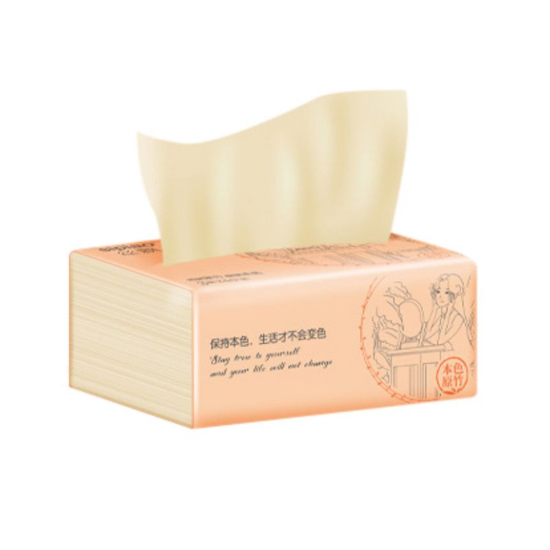 1 Pack  Bamboo Pulp Tissue Natural Soft  Wettable Health Paper Toilet Paper Household Outdoor