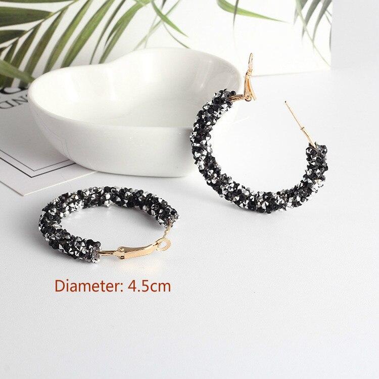 2020 fashion gold crystal beautiful trend female Earrings