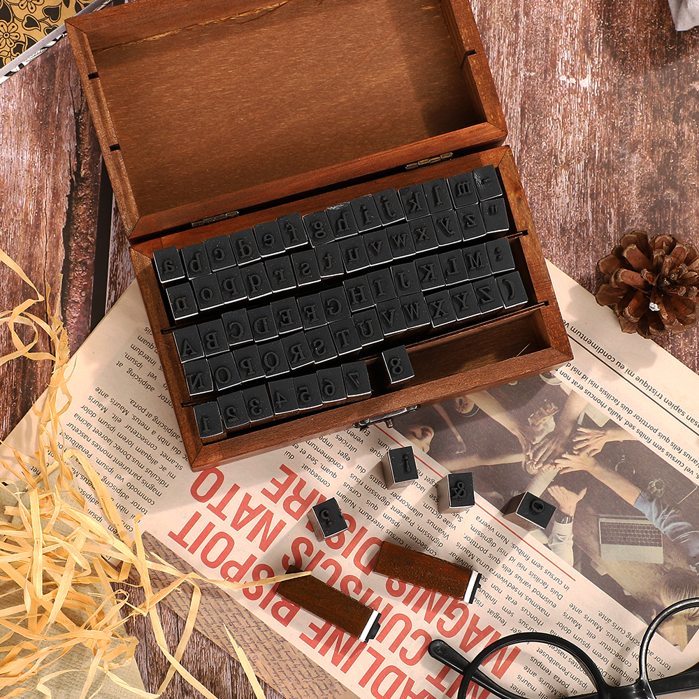 JIANWU Multiple Vintage Trend Series Wooden Journal Stamps Creative Letters And Numbers Seal DIY Student Stationery Supplies 2