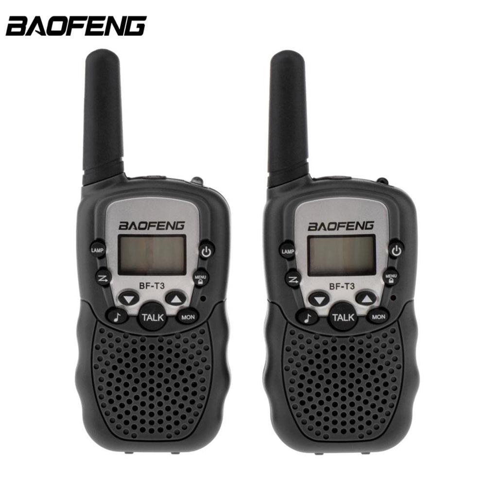 2xBAOFENG T-3 Walkie Talkie Long Rang 2 Way radio 400-470MHZ FRS//GMRS Earpiece K