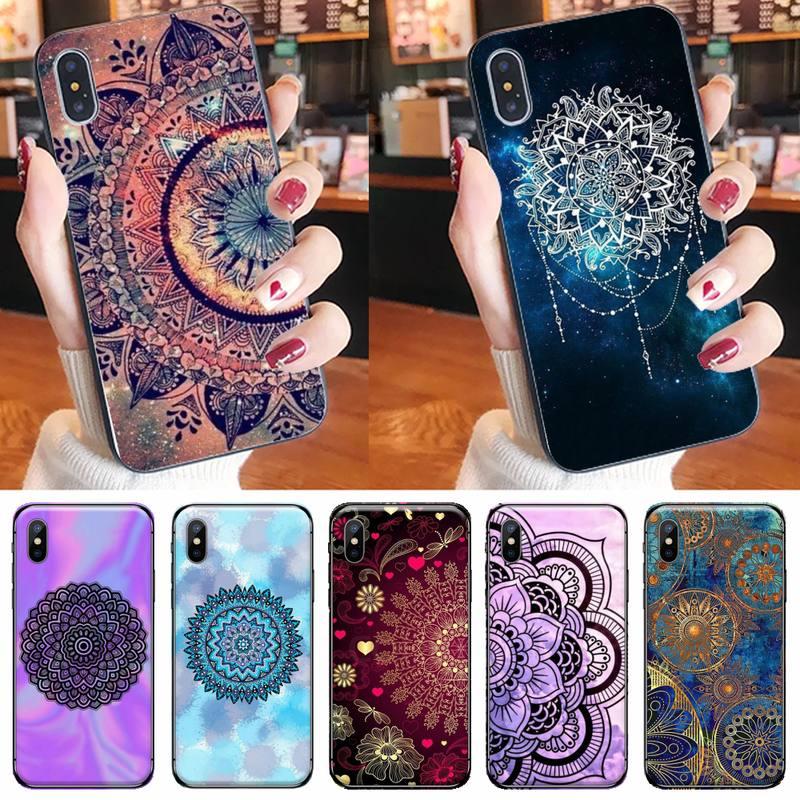 Mandala flower Cove Phone Case for iPhone 11 12 pro XS MAX 8 7 6 6S Plus X 5S SE 2020 XR