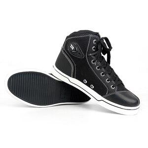 Image 2 - أحذية TR للدراجات النارية للرجال ، أحذية ترفيهية حضرية ، قابلة للتنفس ، مقاومة للاهتراء ، للرحلات وركوب الدراجات النارية