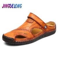 Hot Classic Summer Men's Sandals Genuine Leather Soft Breathable Shoes Beach Roman Sandals Men Sandals Sandals Slippers Bohemia 1