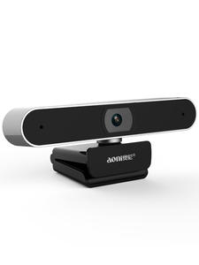 Aoni Webcam 1080p Microphone Computer Laptop Web-Camera Video-Call Auto Focus for PC