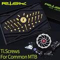 RISK набор крепежных болтов из титанового сплава для обычных MTB горных велосипедов  велосипедов  переднего и заднего переключателей  тормозны...