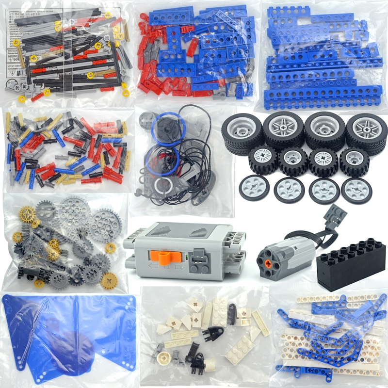 9686 Technic Parts Multi Technology MOC Parts Educational School Students Learning Building Blocks Power Function Set For Kids