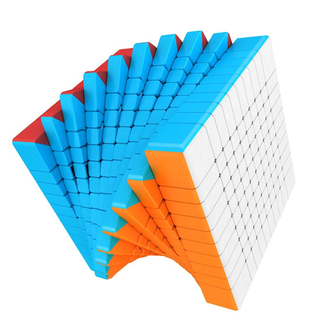 Surwish MF8865 Cubing salle de classe Meilong10 10x10x10 Cube magique 10x10 Cubes de vitesse jouets pour enfants cadeau 2019