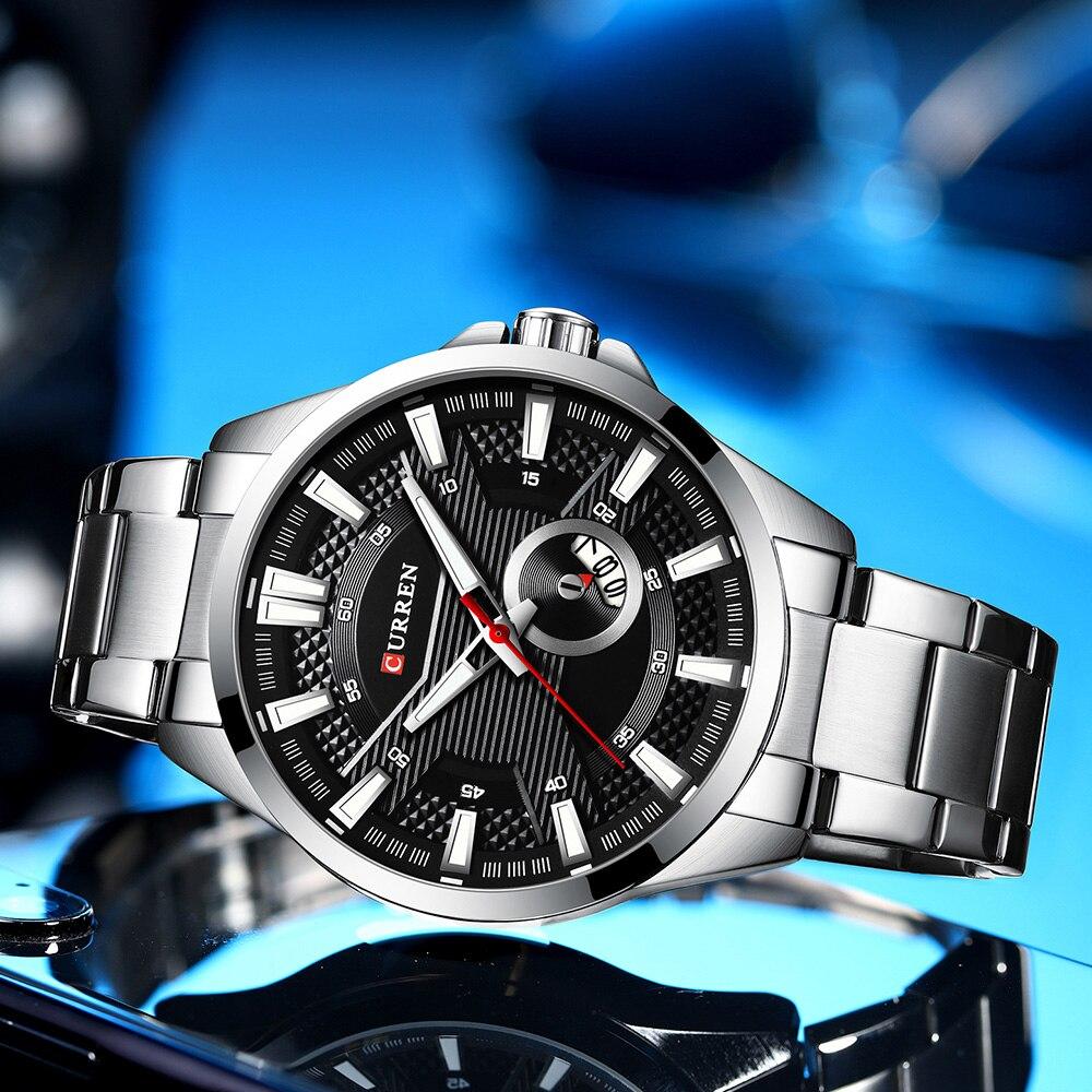 Hf5f8140786524379938e9344d5b903b93 New Stainless Steel Quartz Men's Watches Fashion CURREN Wrist Watch Causal Business Watch Top Luxury Brand Men Watch Male Clock