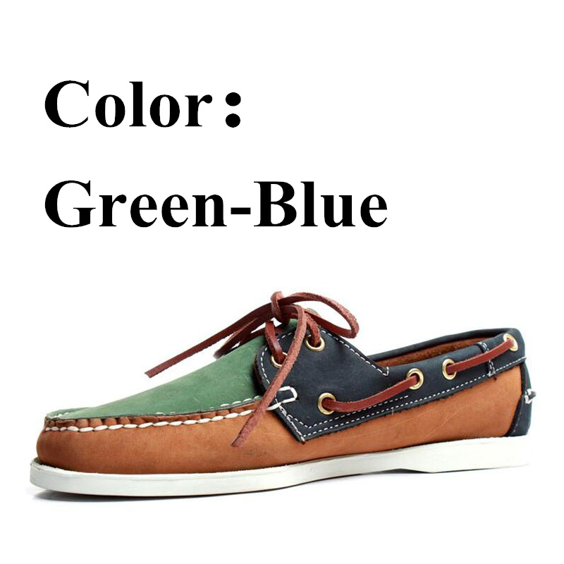 Spring Solid Men's Boat Footwear Fashion Genuine Leather Loafers Lace Up Casual Shoes Man Comfortable Lazy Shoes 2019A016