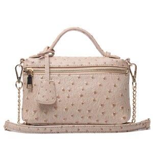 Image 5 - Usine en gros autruche pochette en cuir sac à main chaîne en cuir embrayage fourre tout sac à bandoulière Eleagnt