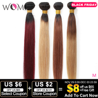 Wome Pre colored Hair Bundles Brazilian Straight Hair Ombre Human Hair Bundles 1b/99j 1b/27 1b/30 Two Tone Ombre Non remy Hair