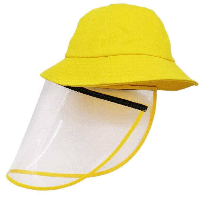 Children Bucket Cap Dustproof And Anti-Fog Hat Parent-Child Hat Fisherman Outdoor Protective Mask Protective Cap