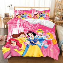 Snow White Bedding Set Princess Single Double Queen King Size  Duvet Cover Children Bedroom Comforter Sets Luxury