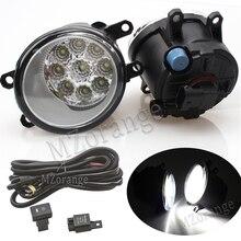 цена на 9Led Fog Lights Fog Lamp Assembly Super Bright For Toyota Corolla Avensis Camry Ractis Verso RAV 4 2003-2014 for Lexus 2008-2013