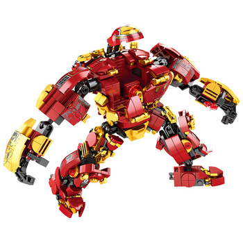 Marvel Homem De Ferro Máquina de Guerra Building Blocks Super Heroes Avengers Hulkbuster Infinito Guerra Das Crianças Das Crianças Brinquedos Para Crianças